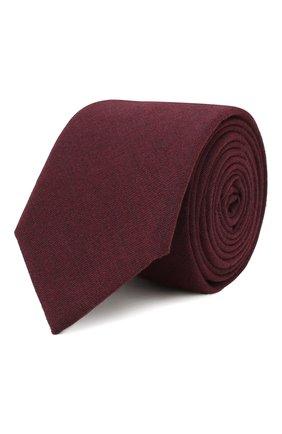 Мужской галстук из смеси шерсти и хлопка ETON бордового цвета, арт. A000 31881 | Фото 1