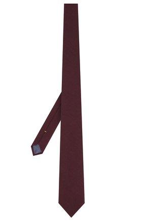 Мужской галстук из смеси шерсти и хлопка ETON бордового цвета, арт. A000 31881 | Фото 2