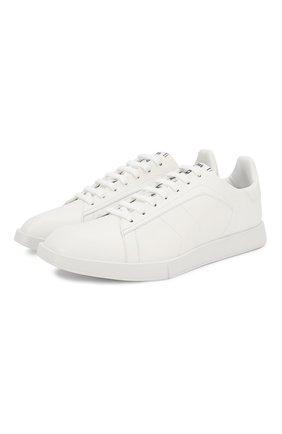 Мужские кожаные кеды BERLUTI белого цвета, арт. S4958-001 | Фото 1 (Материал внешний: Кожа; Материал внутренний: Натуральная кожа; Подошва: Плоская)