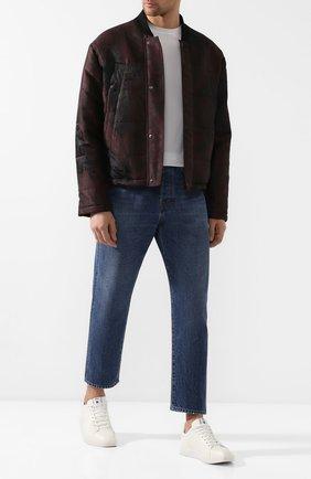 Мужские кожаные кеды BERLUTI белого цвета, арт. S4958-001 | Фото 2 (Материал внешний: Кожа; Материал внутренний: Натуральная кожа; Подошва: Плоская)