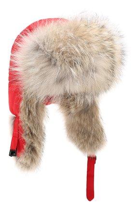 Женский шапка-ушанка CANADA GOOSE красного цвета, арт. 5187L | Фото 1