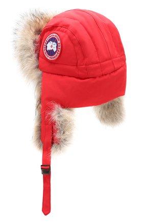 Женский шапка-ушанка CANADA GOOSE красного цвета, арт. 5187L | Фото 2
