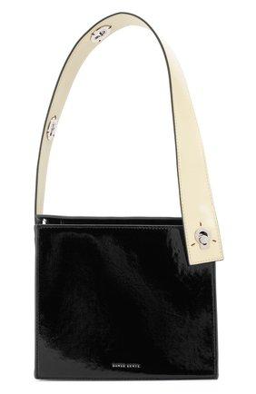 Женская сумка zoe DANSE LENTE черного цвета, арт. Z0E/BLACK/BUTTERMILK | Фото 1