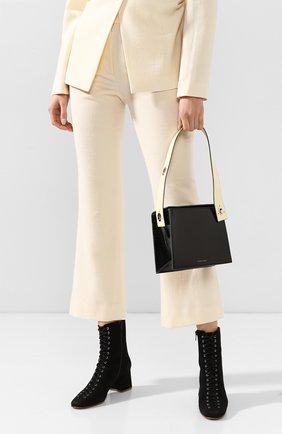Женская сумка zoe DANSE LENTE черного цвета, арт. Z0E/BLACK/BUTTERMILK | Фото 2