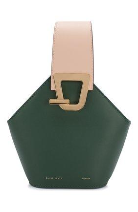 Женская сумка johnny mini DANSE LENTE зеленого цвета, арт. MINI J0HNNY/GARDEN/BLUSH G0LD | Фото 1 (Сумки-технические: Сумки через плечо, Сумки top-handle; Материал: Натуральная кожа; Размер: mini; Ремень/цепочка: На ремешке)