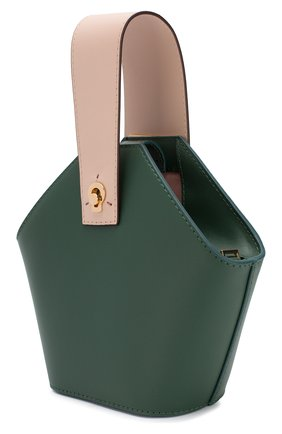 Женская сумка johnny mini DANSE LENTE зеленого цвета, арт. MINI J0HNNY/GARDEN/BLUSH G0LD | Фото 3 (Сумки-технические: Сумки через плечо, Сумки top-handle; Материал: Натуральная кожа; Размер: mini; Ремень/цепочка: На ремешке)