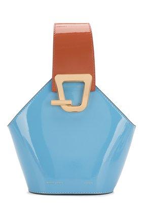 Женская сумка johnny mini DANSE LENTE голубого цвета, арт. MINI J0HNNY/CELESTIAL/R0SEW00D | Фото 1