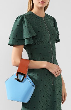 Женская сумка johnny mini DANSE LENTE голубого цвета, арт. MINI J0HNNY/CELESTIAL/R0SEW00D | Фото 2