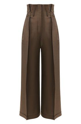 Женские брюки из смеси шерсти и вискозы ACNE STUDIOS коричневого цвета, арт. AK0171 | Фото 1