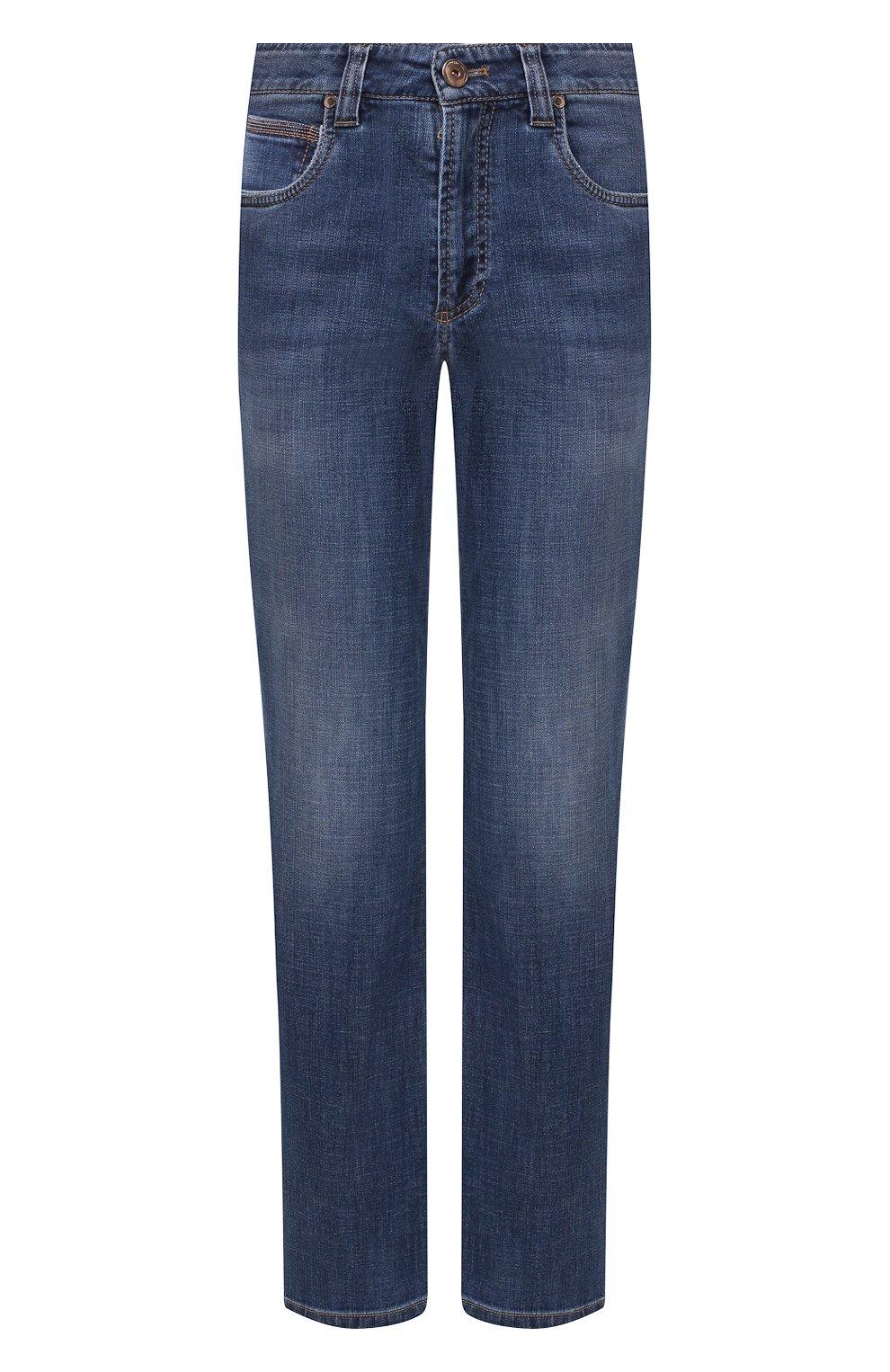Женские джинсы BRUNELLO CUCINELLI синего цвета, арт. MH107P5489   Фото 1
