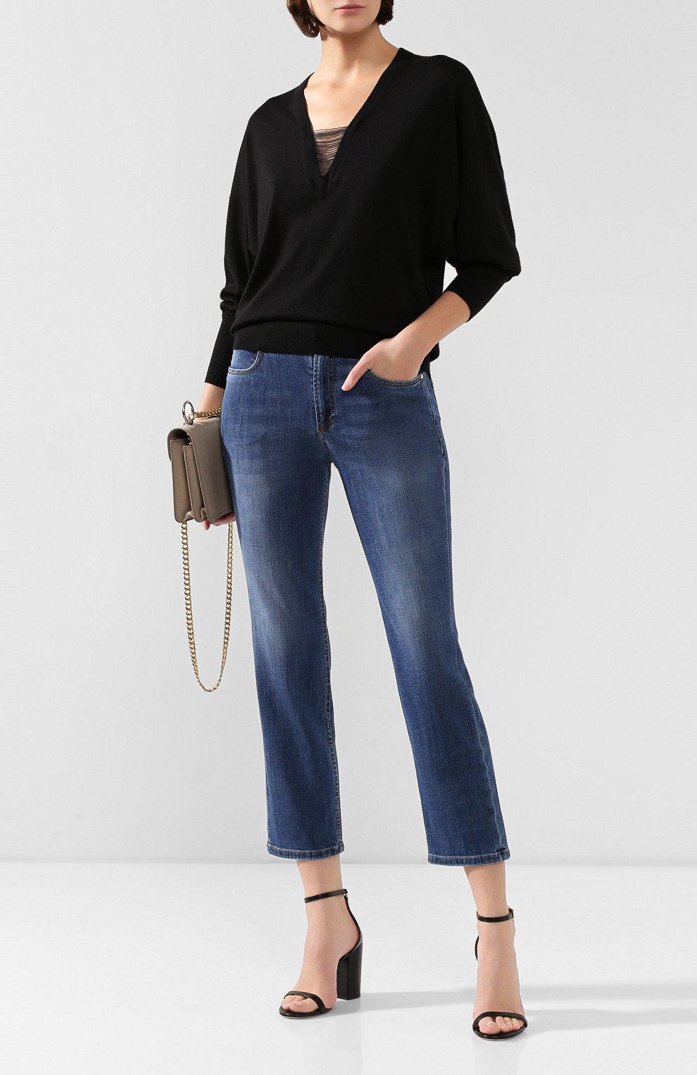 Женские джинсы BRUNELLO CUCINELLI синего цвета, арт. MH107P5489   Фото 2
