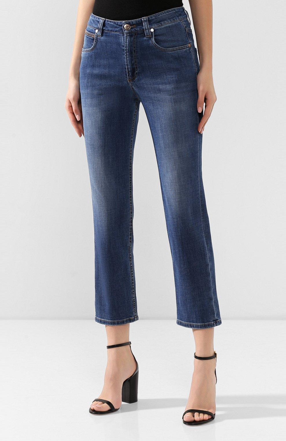 Женские джинсы BRUNELLO CUCINELLI синего цвета, арт. MH107P5489   Фото 3