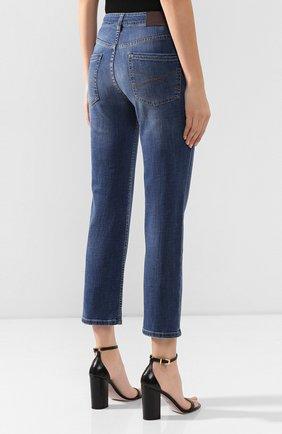 Женские джинсы BRUNELLO CUCINELLI синего цвета, арт. MH107P5489   Фото 4
