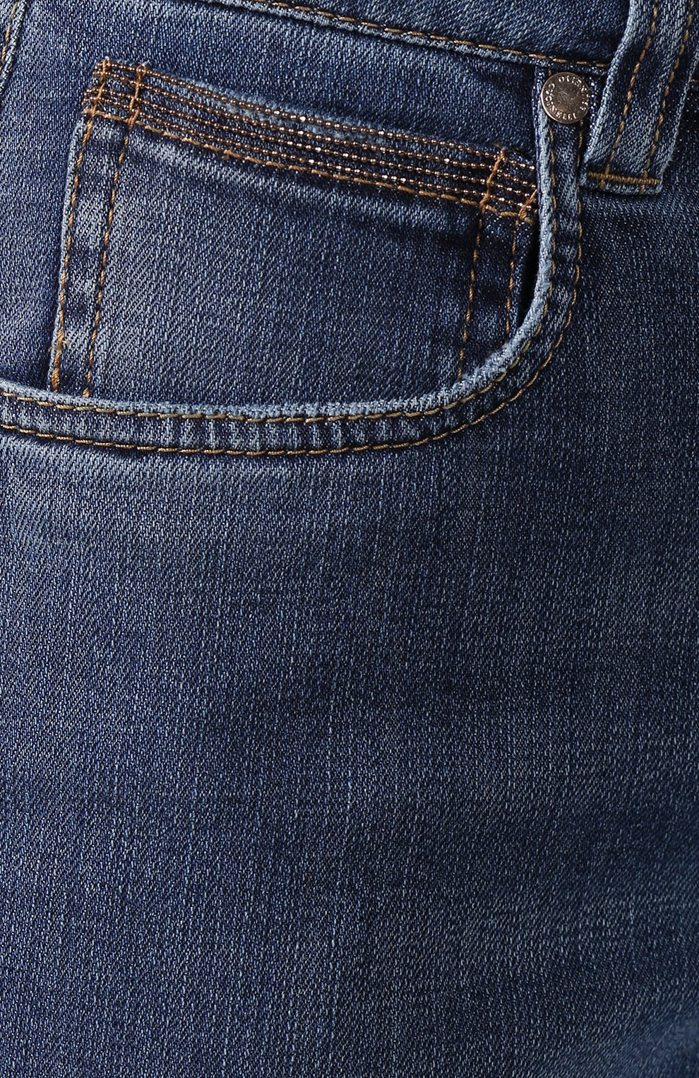 Женские джинсы BRUNELLO CUCINELLI синего цвета, арт. MH107P5489   Фото 5