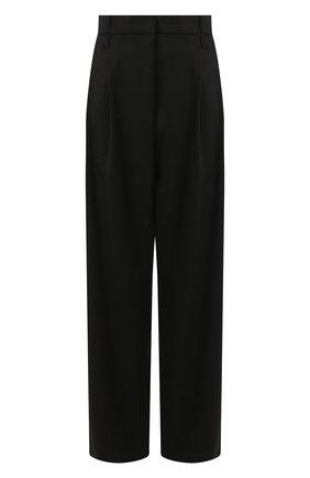 Женские шерстяные брюки BRUNELLO CUCINELLI черного цвета, арт. MB526P7128 | Фото 1 (Материал внешний: Шерсть; Женское Кросс-КТ: Брюки-одежда; Длина (брюки, джинсы): Стандартные)