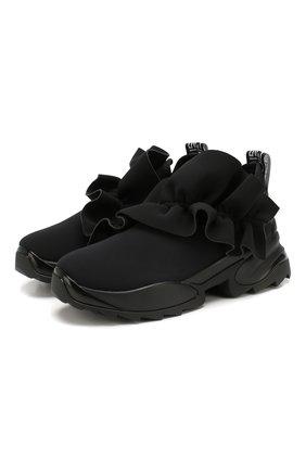 Женские текстильные кроссовки SERGIO ROSSI черного цвета, арт. A87300-MFN802 | Фото 1
