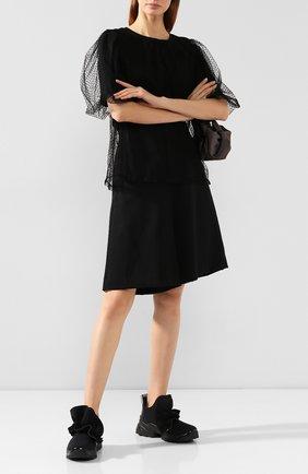 Женские текстильные кроссовки SERGIO ROSSI черного цвета, арт. A87300-MFN802 | Фото 2