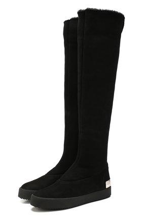 Женские замшевые ботфорты GIUSEPPE ZANOTTI DESIGN черного цвета, арт. RW90054/001 | Фото 1