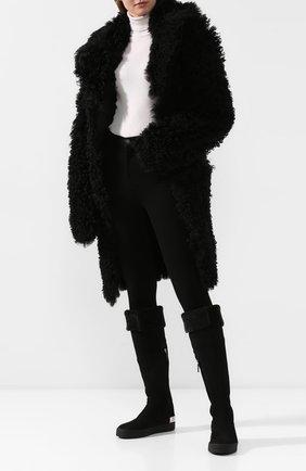 Женские замшевые ботфорты GIUSEPPE ZANOTTI DESIGN черного цвета, арт. RW90054/001 | Фото 2