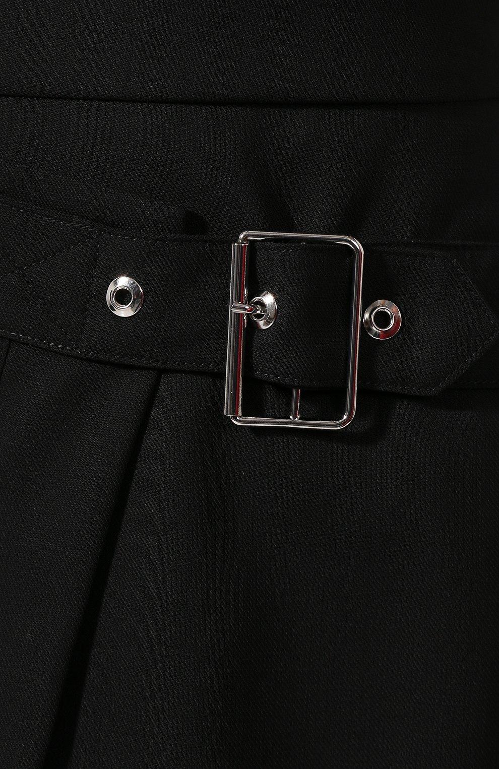 Женская шерстяная юбка MCQ SWALLOW черного цвета, арт. 559425/RNA03   Фото 5 (Материал внешний: Шерсть; Длина Ж (юбки, платья, шорты): Мини; Материал подклада: Вискоза)