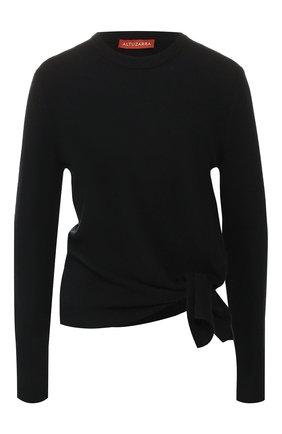Женская кашемировый пуловер ALTUZARRA черного цвета, арт. 419-829-818 | Фото 1