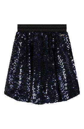 Детская юбка TWINSET синего цвета, арт. 192GJ2093/12A-16A | Фото 1