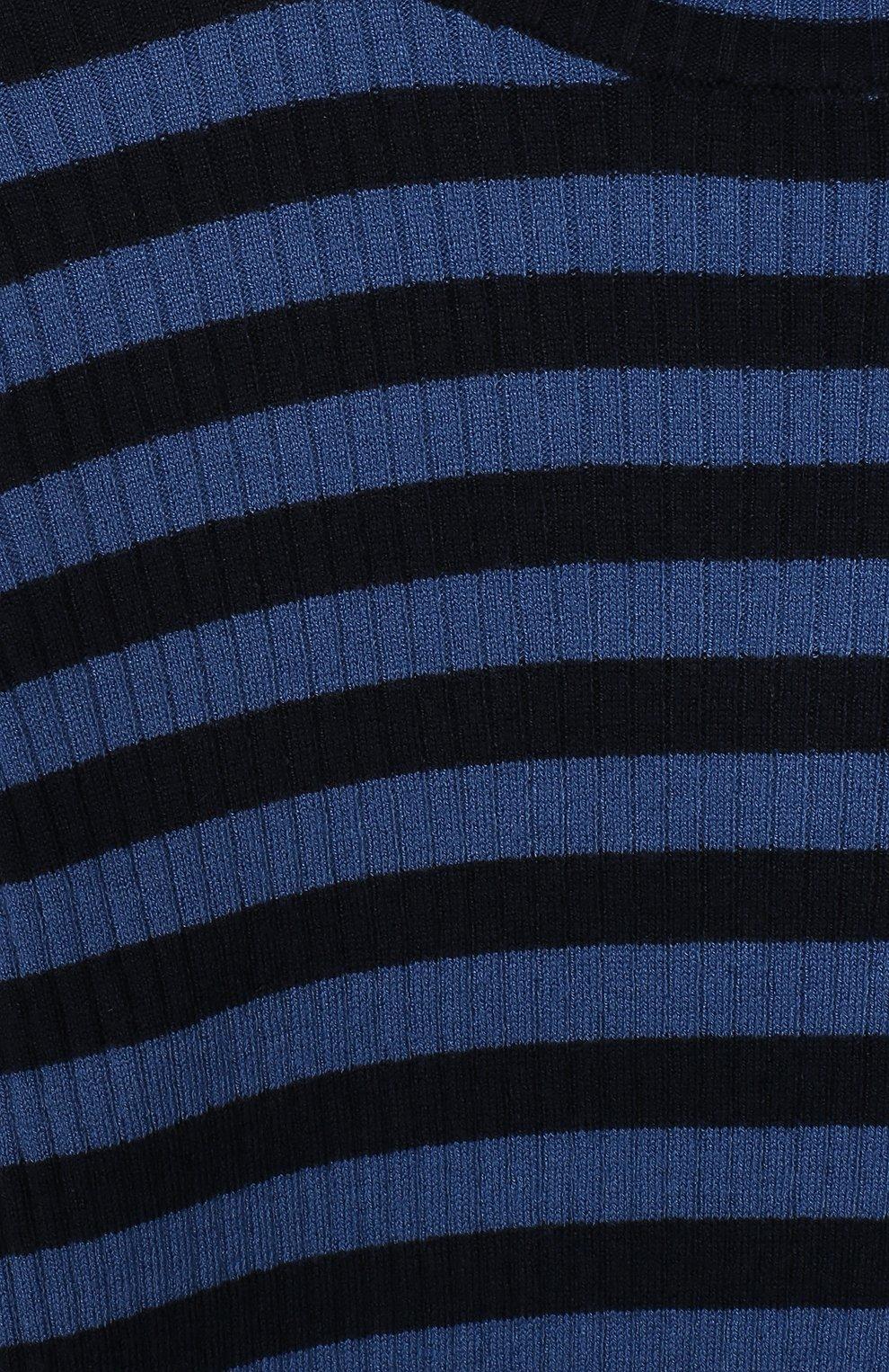 Детская водолазка TWINSET синего цвета, арт. 192GJ3170/6A-10A | Фото 3 (Кросс-КТ: водолазка; Рукава: Длинные; Материал внешний: Синтетический материал; Ростовка одежда: 6 лет | 116 см, 8 лет | 128 см)