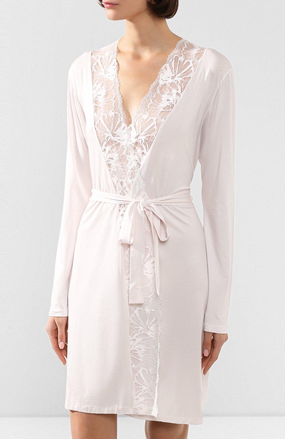 Женский халат ZIMMERLI светло-розового цвета, арт. 762-4096   Фото 3