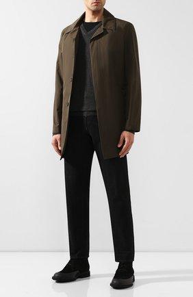 Мужской пуловер из смеси кашемира и шелка SVEVO темно-серого цвета, арт. 0671SA19/MP06/2   Фото 2