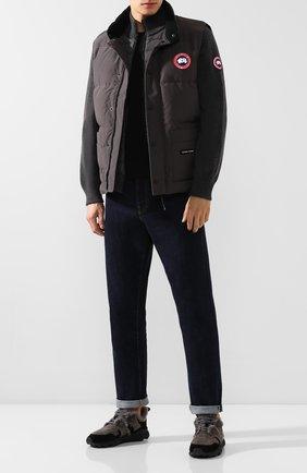 Мужские замшевые кроссовки FLOWER MOUNTAIN черного цвета, арт. 0012014302.02   Фото 2