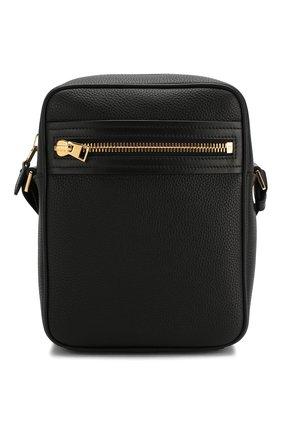 Мужская кожаная сумка-планшет TOM FORD черного цвета, арт. H0389T-LCL037   Фото 1