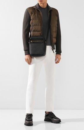 Мужская кожаная сумка-планшет TOM FORD черного цвета, арт. H0389T-LCL037   Фото 2