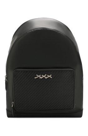 Мужской кожаный рюкзак ZEGNA COUTURE черного цвета, арт. C1390P-LHHPT | Фото 1