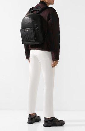 Мужской кожаный рюкзак ZEGNA COUTURE черного цвета, арт. C1390P-LHHPT | Фото 2