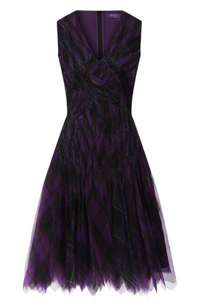 Женское шелковое платье RALPH LAUREN фиолетового цвета, арт. 290773528 | Фото 1
