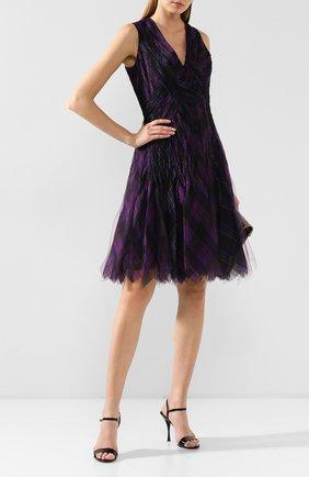 Женское шелковое платье RALPH LAUREN фиолетового цвета, арт. 290773528 | Фото 2