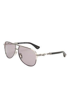 Мужские солнцезащитные очки CHROME HEARTS черного цвета, арт. PAINAL MBK/BS BK P | Фото 1