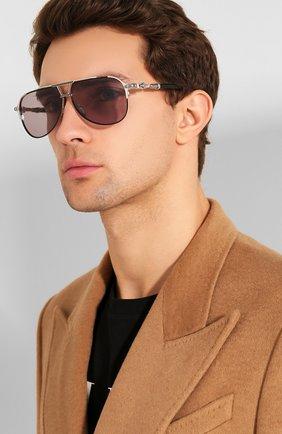 Мужские солнцезащитные очки CHROME HEARTS черного цвета, арт. PAINAL MBK/BS BK P | Фото 2