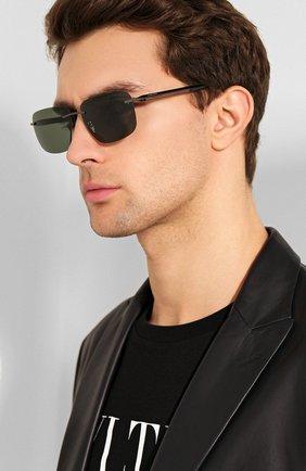 Мужские солнцезащитные очки CHOPARD темно-зеленого цвета, арт. C95S 568Z | Фото 2