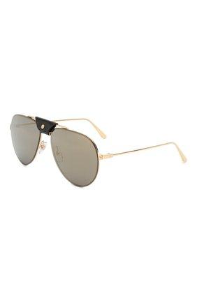 Женские солнцезащитные очки CARTIER золотого цвета, арт. CT0166 007 | Фото 1