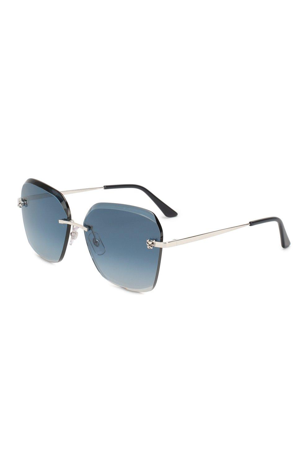 Женские солнцезащитные очки CARTIER синего цвета, арт. CT0147 003   Фото 1