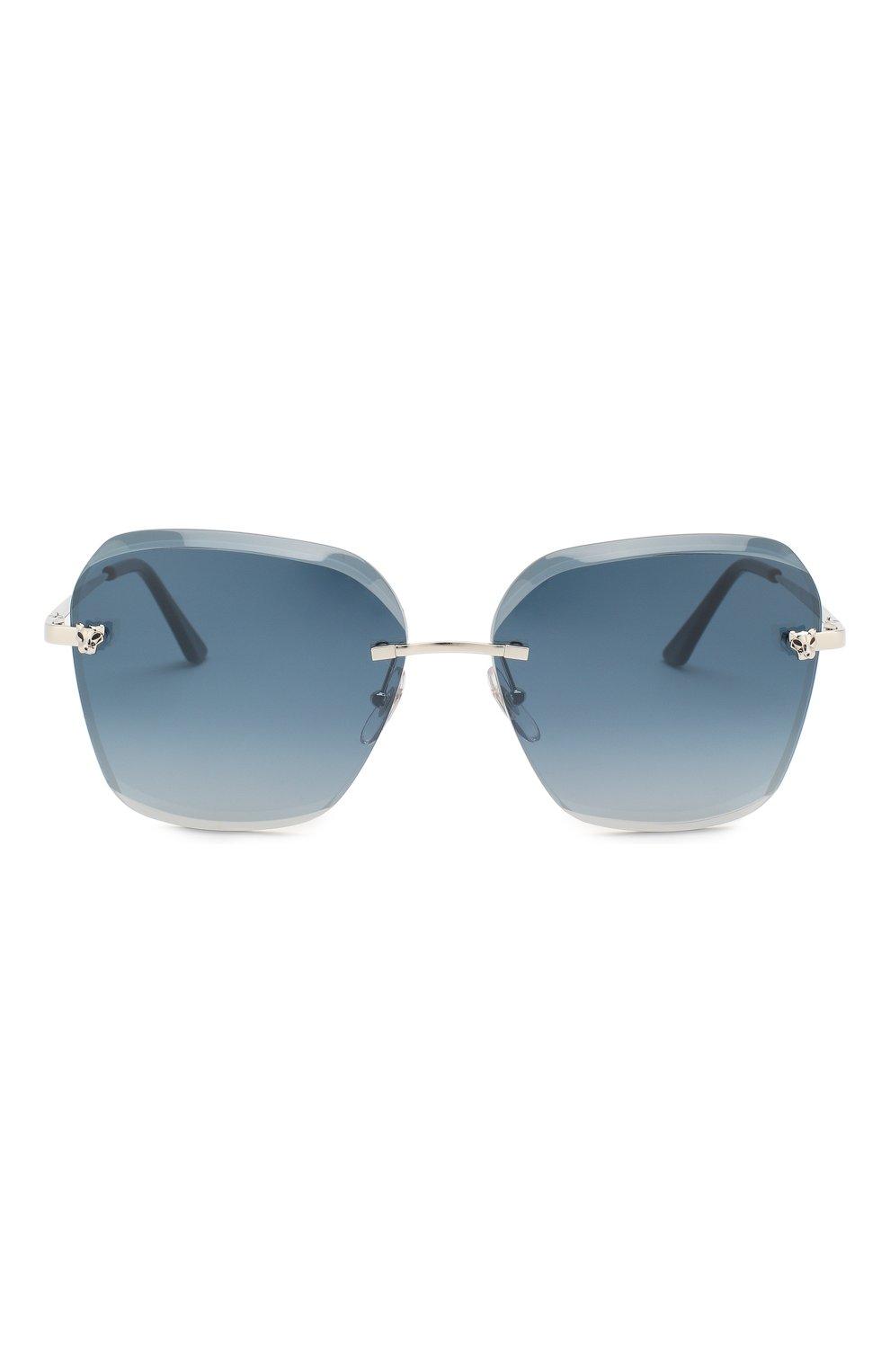 Женские солнцезащитные очки CARTIER синего цвета, арт. CT0147 003   Фото 3