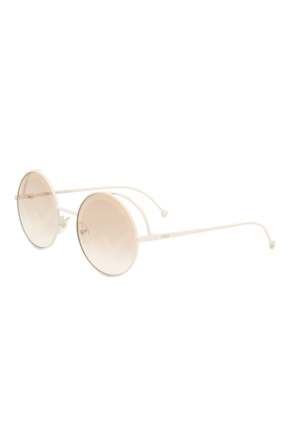 Женские солнцезащитные очки FENDI белого цвета, арт. 0343 VK6 | Фото 1
