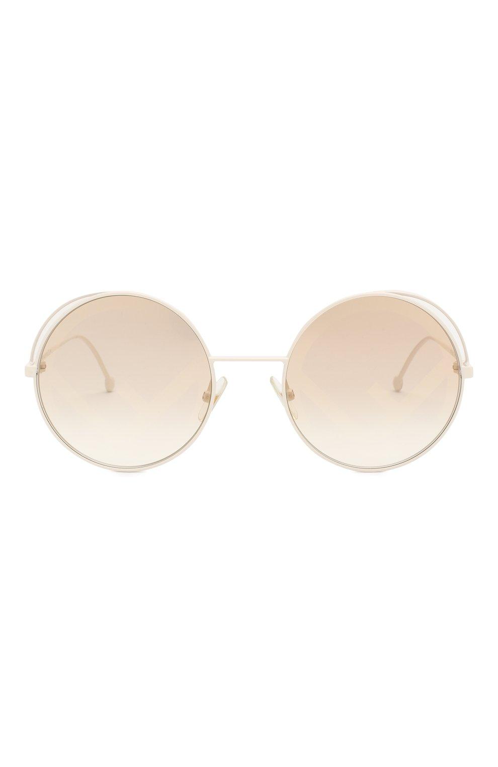 Женские солнцезащитные очки FENDI белого цвета, арт. 0343 VK6 | Фото 3