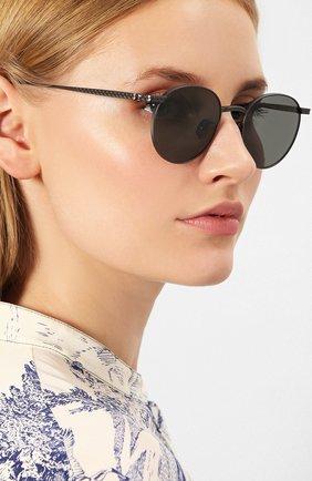 Женские солнцезащитные очки BOTTEGA VENETA темно-серого цвета, арт. BV0249 002   Фото 2