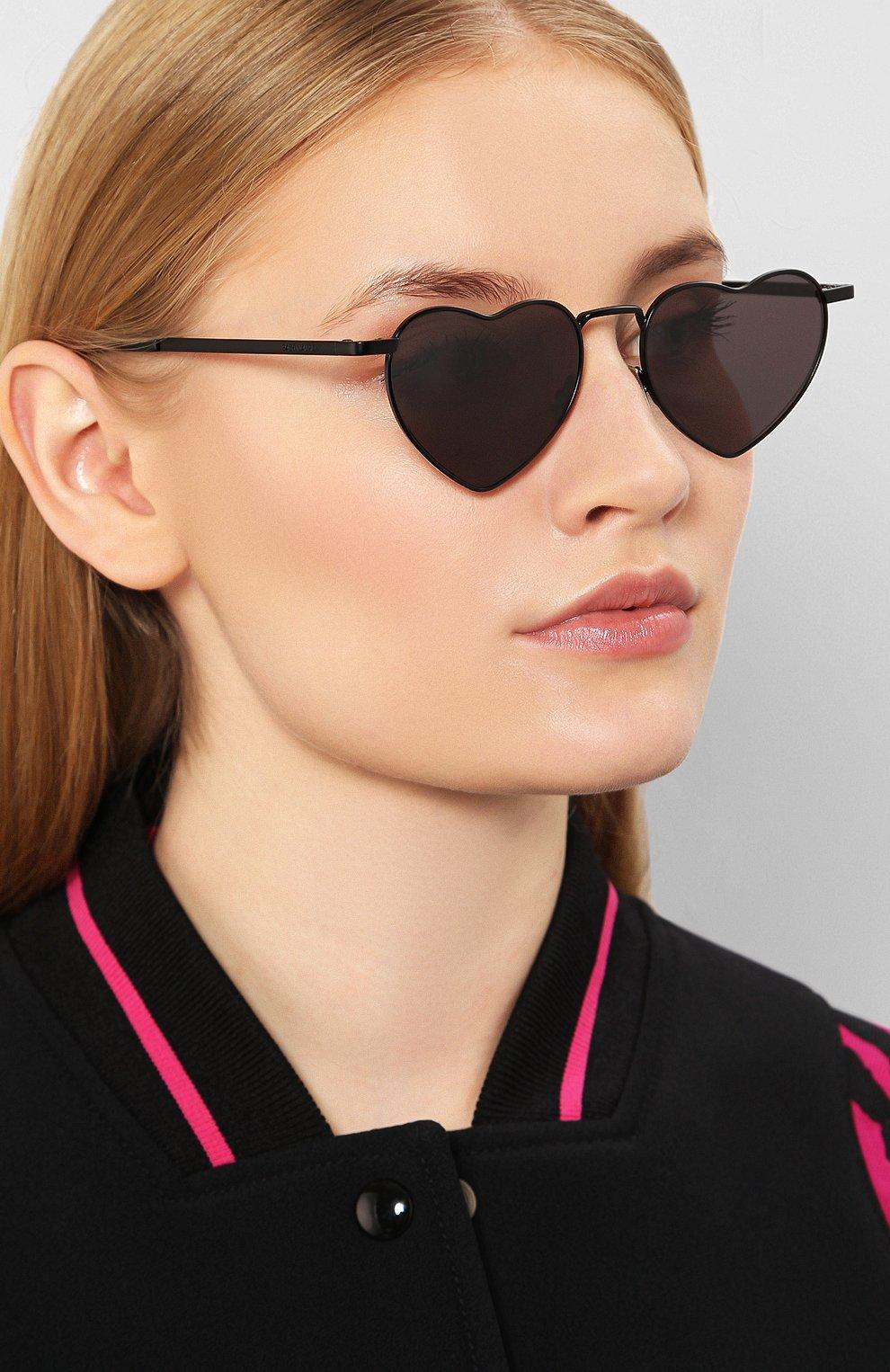 Женские солнцезащитные очки SAINT LAURENT черного цвета, арт. SL 301 L0UL0U 002 | Фото 2
