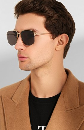 Мужские солнцезащитные очки DIOR черного цвета, арт. DI0R180 RHL | Фото 2