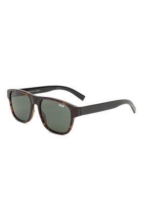 Мужские солнцезащитные очки DIOR темно-коричневого цвета, арт. DI0RFLAG2 086 | Фото 1