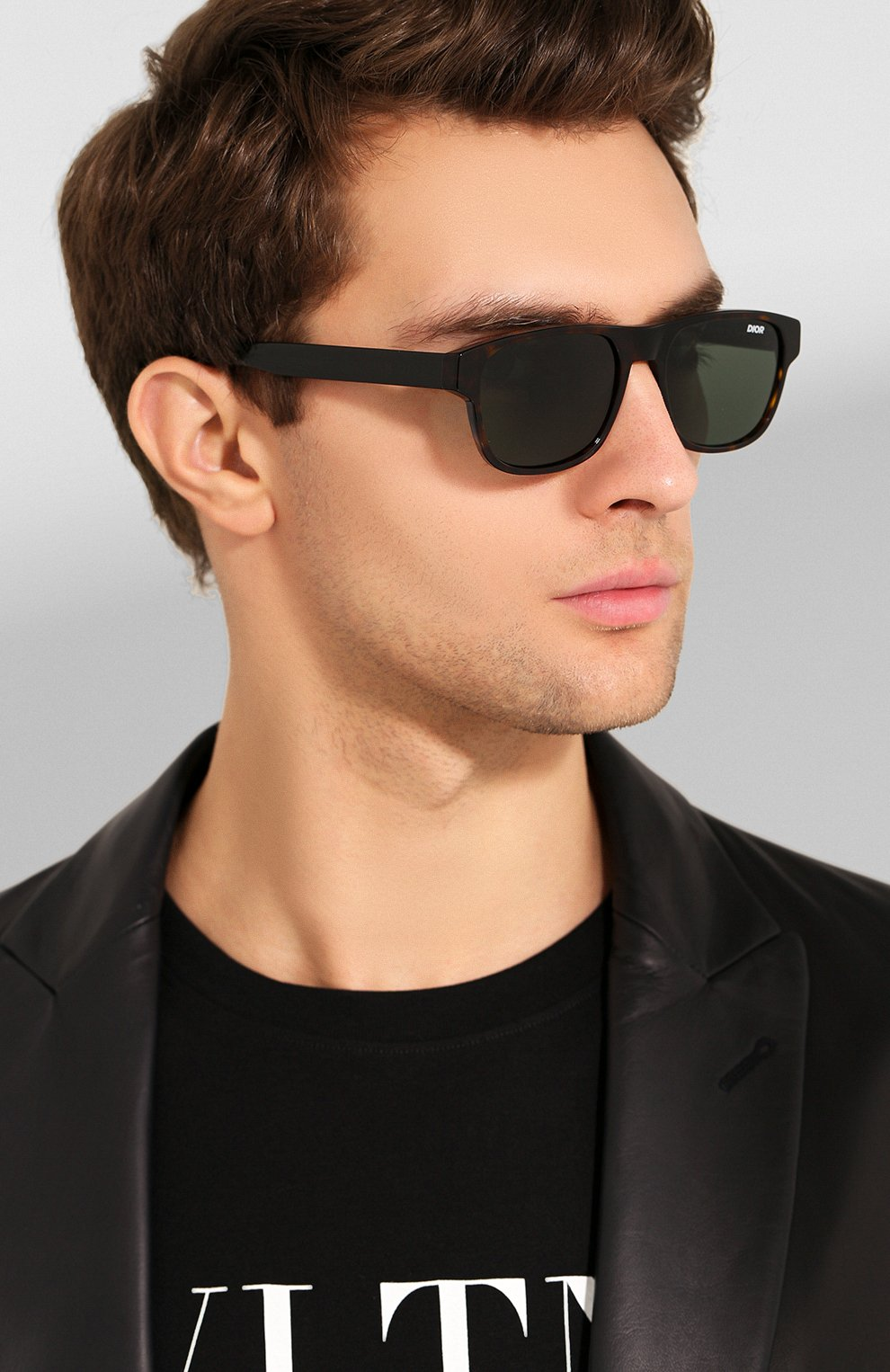 Мужские солнцезащитные очки DIOR темно-коричневого цвета, арт. DI0RFLAG2 086 | Фото 2