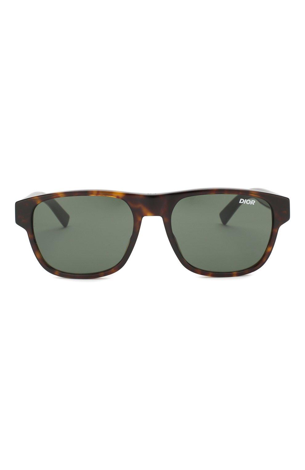 Мужские солнцезащитные очки DIOR темно-коричневого цвета, арт. DI0RFLAG2 086 | Фото 3